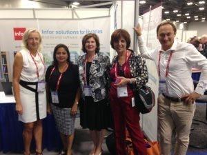 Ann en JF met onze vrienden van de vereniging van Franstalige bibliothecarissen
