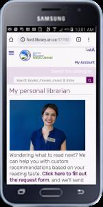 BWG Library Iguana mobile enabled