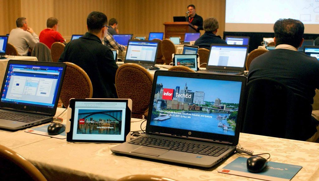 Open lab at Infor TechEd