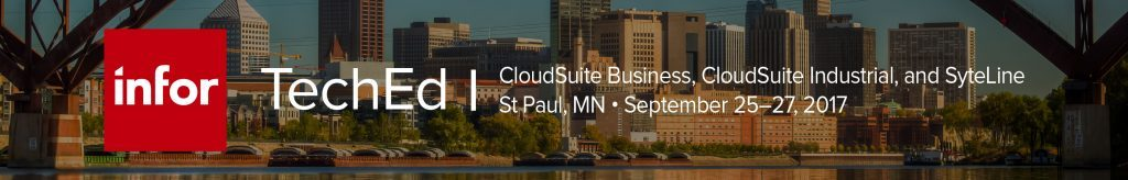 Register now Infor TechEd for Infor CloudSuite Business and Industrial
