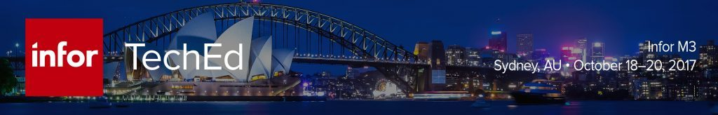 Register now for Infor TechEd for Infor M3 in Sydney