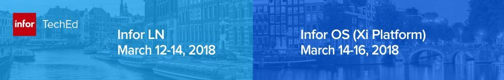 Infor TechEd in Amsterdam