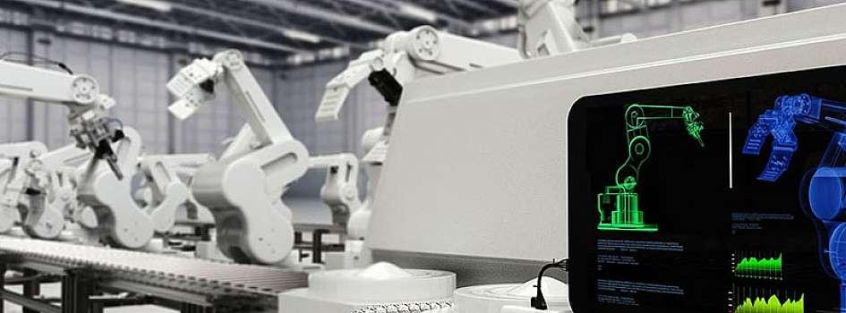 人工知能(AI)、モノのインターネット(IoT)、ロボット工学などの技術によって、高度にデジタル化されたコネクテッドな生産施設