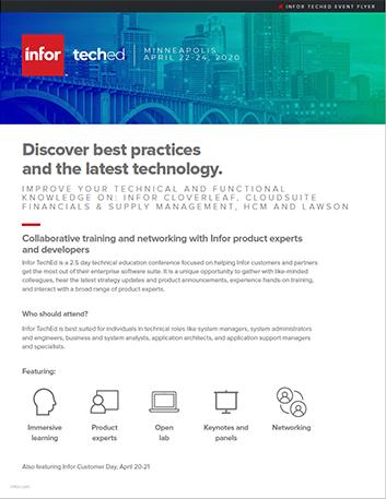Infor Tech Ed 2020 Minneapolis Flyer Thumbnail