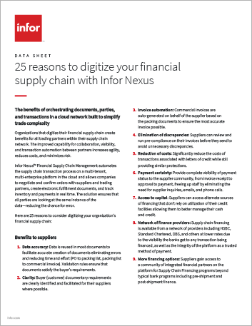Th 25 reasons to digitize your financial supply chain with Infor Nexus Data Sheet English 457px