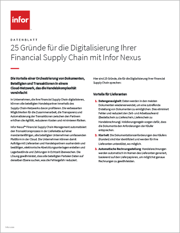 Th 25 reasons to digitize your financial supply chain with Infor Nexus Data Sheet German 457px