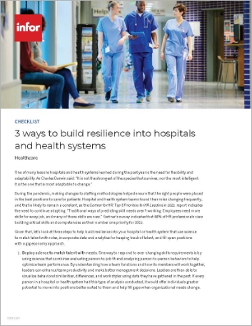 Th 3 ways to build resilience into hospitals and health systems Checklist English 457px
