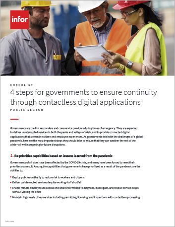 Th 4 steps for governments to ensure continuity through contactless digital applications Checklist English 457px