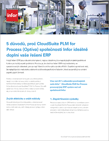 Th 5 reasons Infor Cloud Suite PLM for Process Optiva completes your ERP solution Flyer Czech 457px 1