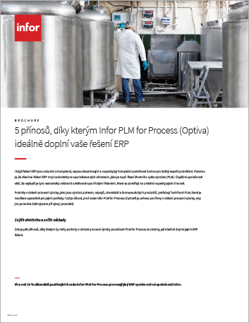 Th 5 ways Infor PLM for Process Optiva completes your ERP solution Brochure Czech 457px