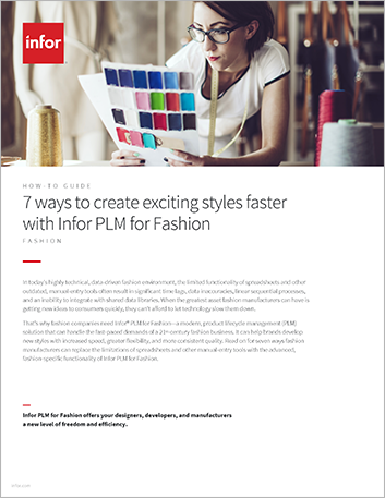 Th 7 ways to create exciting styles faster with Infor PLM for Fashion How to Guide English 457px