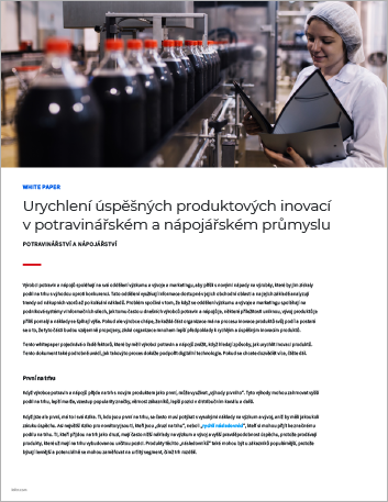Th Accelerating successful product innovation in food and beverage White Paper Czech 457px