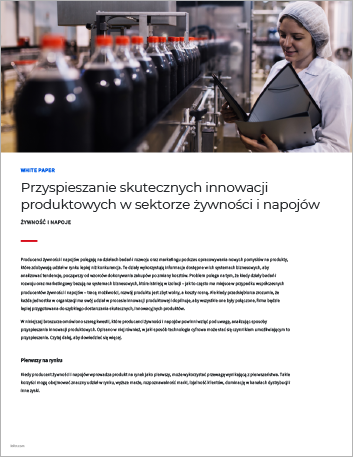Th Accelerating successful product innovation in food and beverage White Paper Polish 457px