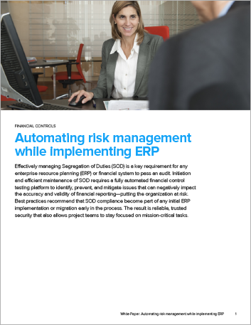 Th Automating risk management while implementing ERP White Paper English 457px