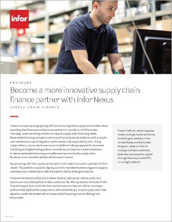 Th Become a more innovative supply chain finance partner with Infor Nexus Brochure English 457px