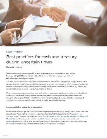 Th Best practices for cash and treasury during uncertain times Executive Brief English 457px