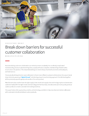 Th Break down barriers for successful customer collaboration Executive Brief English 457px