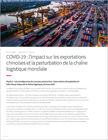 Th COVID 19 Impact on China exports and the disruption of the global supply chain Executive Brief French 457px