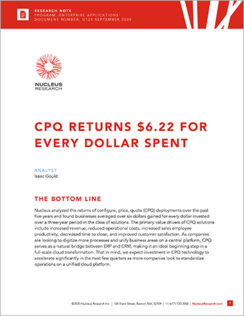 Th CPQ Returns 6 22 for Every Dollar Spent White Paper English 457px