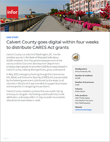 Th Calvert County Case Study Infor Public Sector Infor Rhythm for Civics Public Sector NA English 457px