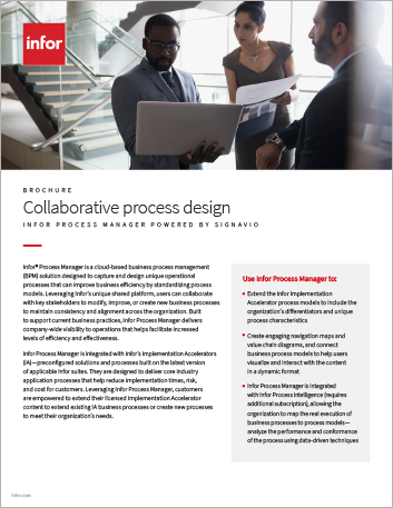 Th Collaborative process design for the entire organization Infor Process Manager powered by Signavio Brochure English 457px