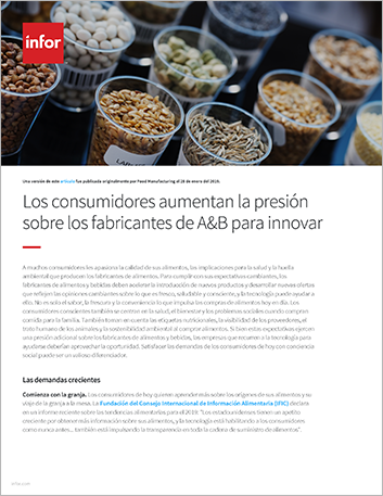 Th Consumers increase pressure on F and B manufacturers for innovation Article Spanish LA 457px 1