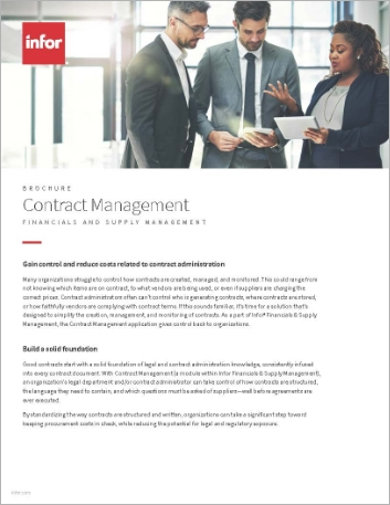 Th Contract Management in Infor Financials and Supply Management Brochure English 457px
