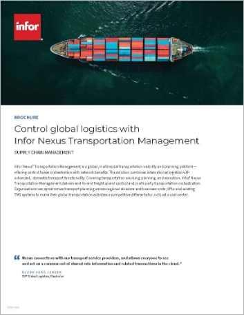 Th Control global logistics with Infor Nexus Transportation Management Brochure English 457px