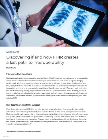 Th Discovering if and how FHIR creates a fast path to interoperability White Paper English 457px