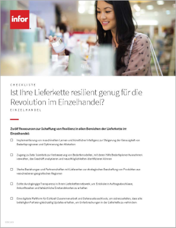 Th Do you have the resilient supply chain needed for the retail revolution Checklist German 457px