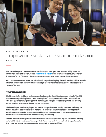Th Empowering sustainable sourcing in fashion Executive Brief English 457px