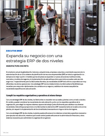 Th Expand your business with a two tier ERP strategy Executive Brief Spanish LATAM 457px