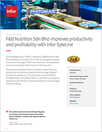 Th F and B Nutrition Sdn Bhd Case Study Infor Syte Line ERP Food and Beverage APAC English 457px