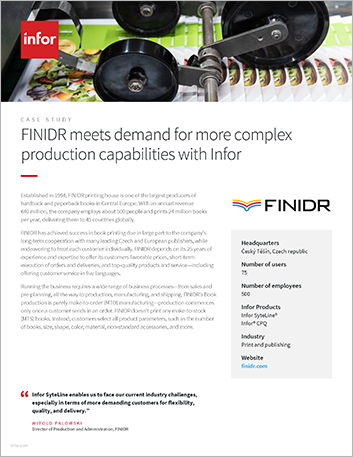 Th FINIDR Case Study Infor Syte Line Print and publishing EMEA English 457px