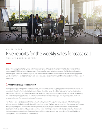 Th Five reports for the weekly sales forecast call White Paper English 457px