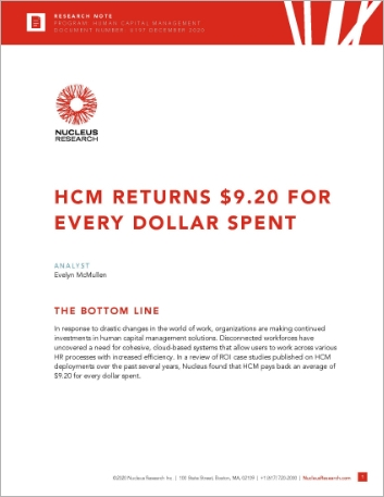 Th HCM returns 9 20 for every dollar spent Analyst report English 457px