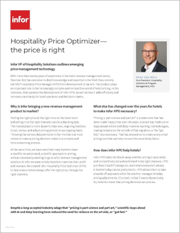 Th Hospitality Price Optimizer the price is right Executive Interview English 457px