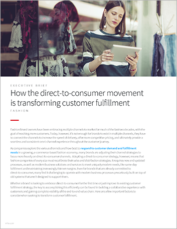Th How the direct to consumer movement is transforming customer fulfillment Executive Brief English 457px