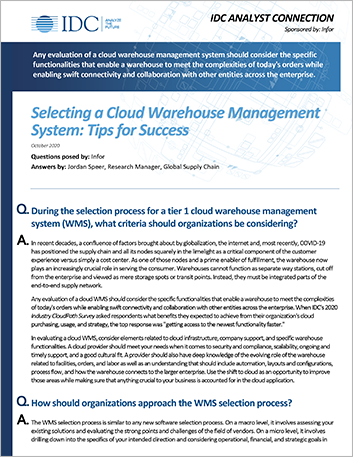 Th IDC Analyst Connection Selecting a Clouse Warehoue Management System Analyst Report English 457px