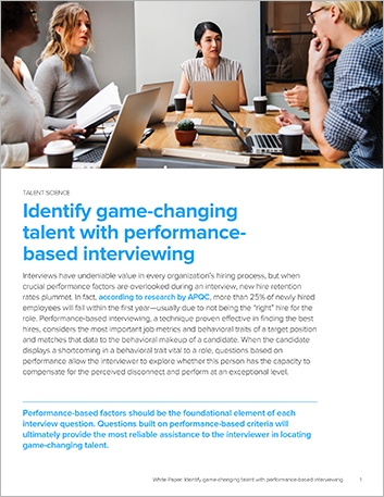 Th Identify game changing talent with performance based interviewing White Paper English 457px