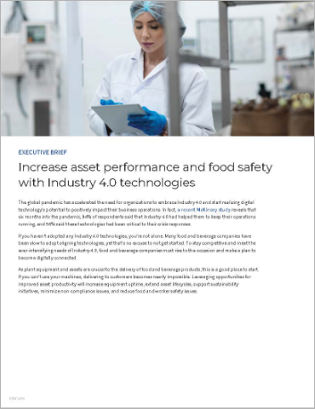 Th Increase asset performance and food safety with Industry 4 0 technologies Executive Brief English 457px