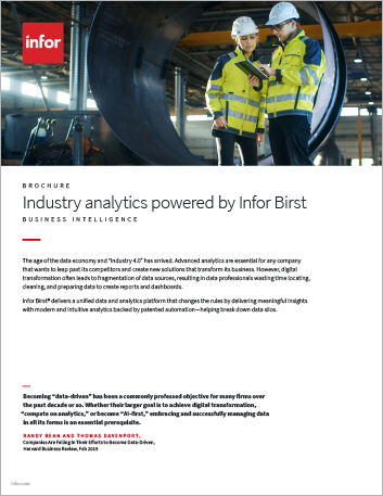 Th Industry analytics powered by Infor Birst Brochure English 457px