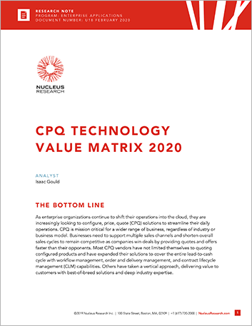 Th Infor CPQ recognized as Leader in Nucleus Research Value Matrix 2020 report 457px