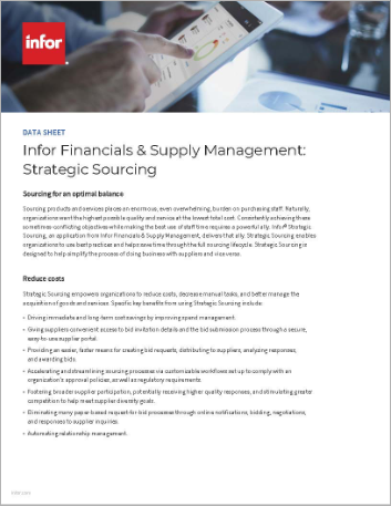 Th Infor Financials and Supply Management Strategic Sourcing Data Sheet English 457px
