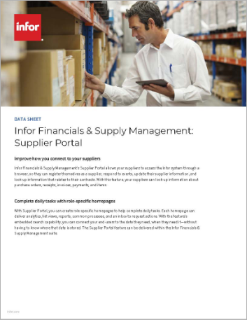 Th Infor Financials and Supply Management Supplier Portal Data Sheet English 457px