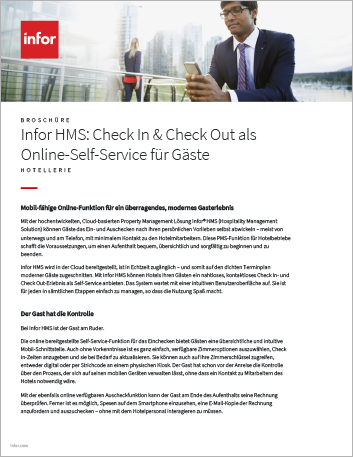 Th Infor HMS Guest Self Service web based check in and check out Brochure German 457px