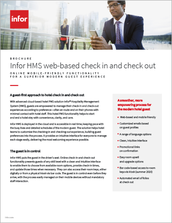 Th Infor HMS web based check in and check out Brochure English 457px