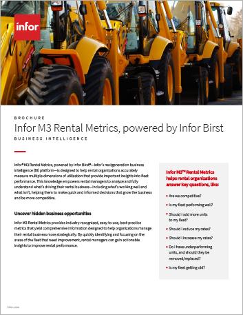 Th Infor M3 Rental Metrics powered by Infor Birst Brochure English 457px