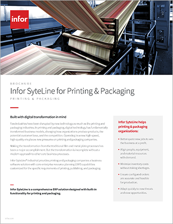Th Infor Syte Line for Printing and Packaging Brochure English 457px