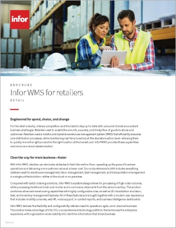 Th Infor WMS for retailers Brochure English 457px